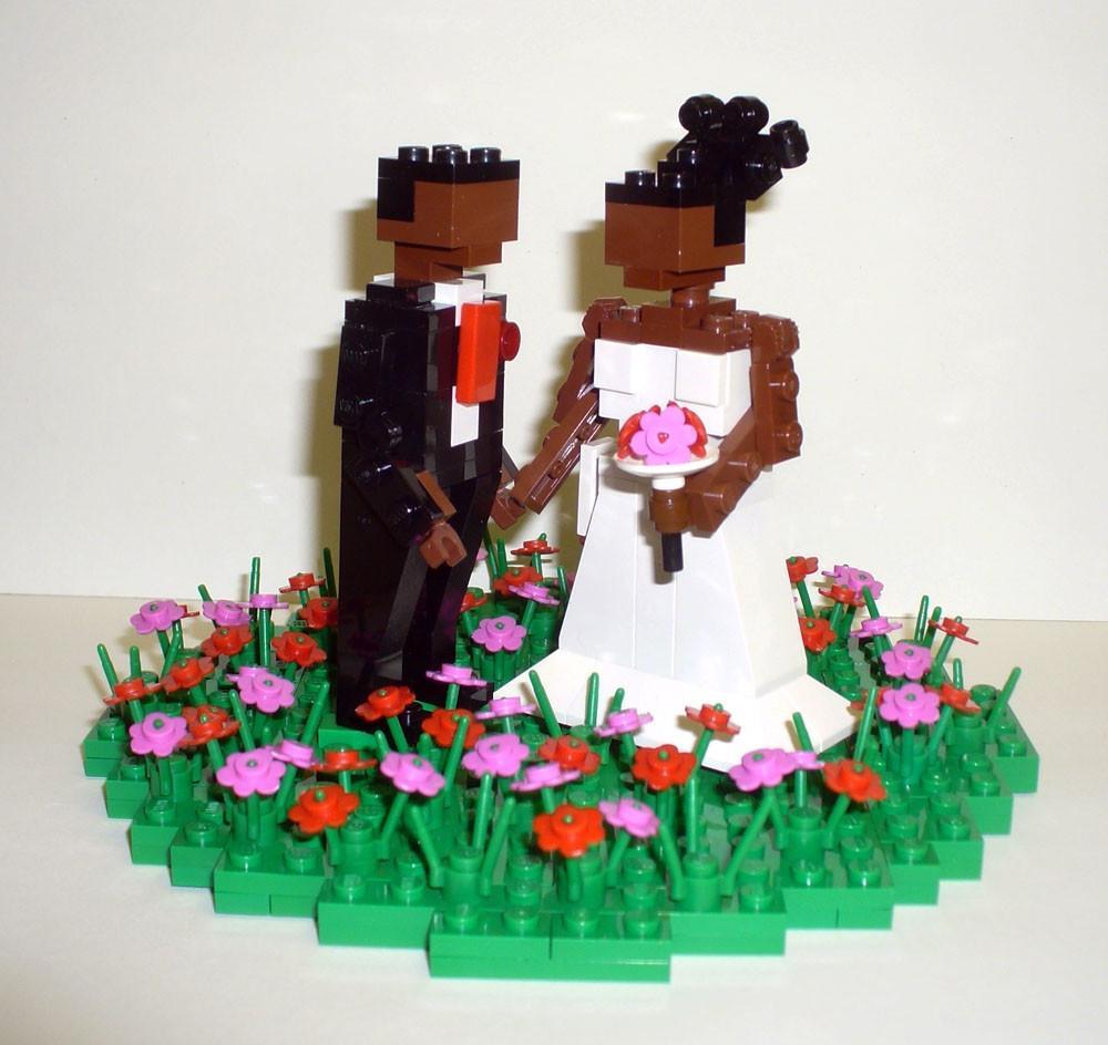 Custom LEGO Wedding Cake