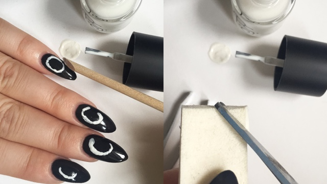I spotted the 'moon phases' nail art over on tumblr a while ago,and thought  it was beautiful and really wanted to try it out for myself. - Moon Phase Nail Art Tutorial Kayleigh Jean