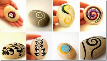 collage piedras pintadas