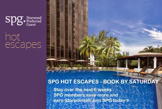 Starwood喜達屋【Hot Escape】 Sheraton喜來登、Westin威斯汀、W Hotel、St. Regis瑞吉等酒店,未來6週住宿低至56折,只限3日訂購,至10月4日止!