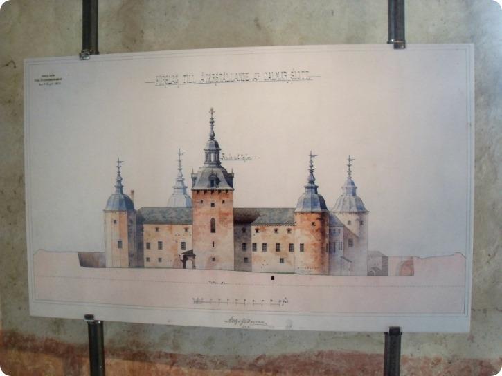 Genopbygningen af Kalmar Slot - arkitektens tegning
