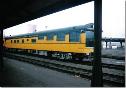 Chicago & North Western Inspection Car #420 Fox River at Union Station in Portland, Oregon on September 26, 1995