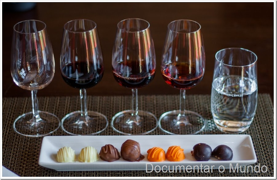 Degustação de vinho do Porto e chocolate no The Vintage House Douro