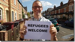 Rob White refugees welcome smiling