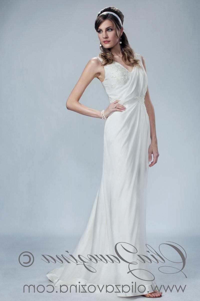 greek goddess wedding gowns