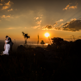 View from the Top by Lood Goosen (LWG Photo) - Wedding Bride & Groom ( wedding photography, wedding photographers, wedings, brides, wedding dress, wedding photos, love, forever, wedding, wedding day, sunset, wedding photographer, bride and groom, bride, groom, bride groom,  )