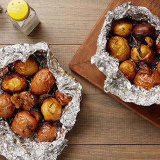 Hobo Pack Potatoes with Rosemary and Garlic