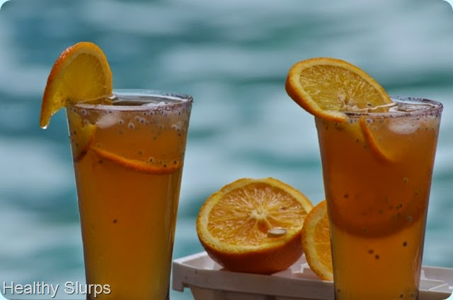 Orange Basil Iced Tea