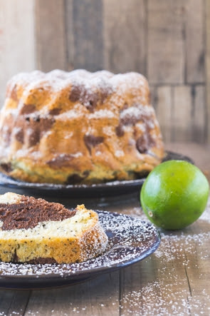 caipirinha bundt cake with cachaca lime glaze