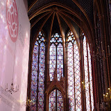 The interior of the Sainte Chapelle