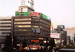 Downtown Niigata City, capital of Niigata Prefecture, Japan, near the train station.