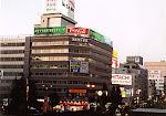 Downtown Niigata City, capital of Niigata Prefecture, Japan, near the train station.