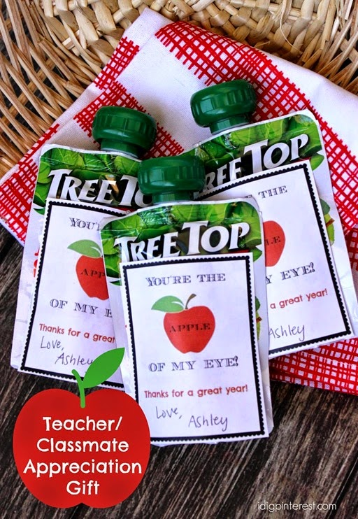 applesauce teacher classmate appreciation gift