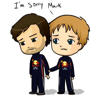 Себастьян Феттель извиняется перед Марком Уэббером - комикс по Гран-при Малайзии 2013