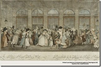 Le Palais Royal en 1787 - musée Carnavalet