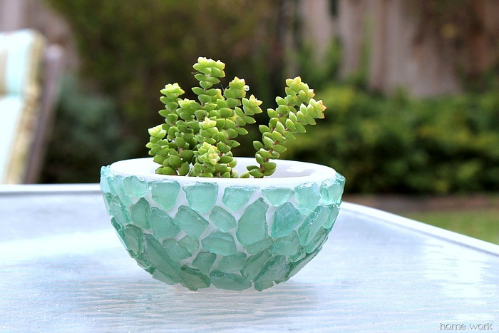 Sea Glass Succulent Bowl - homework (2)