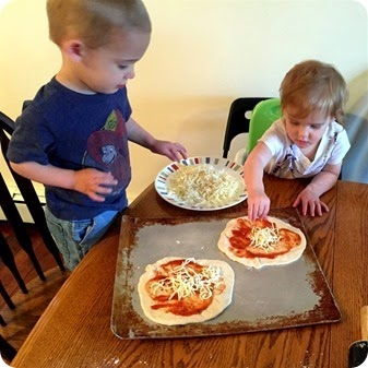 Making Mini Pizzas