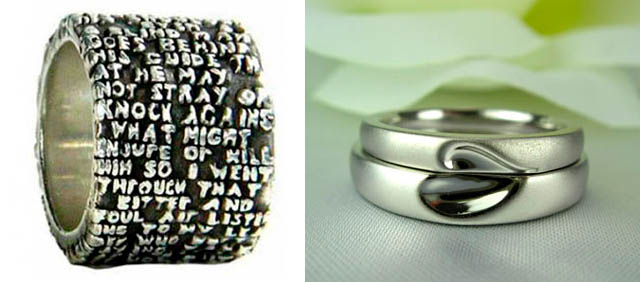 dark roasted blend unique wedding rings engraving ideas - Wedding Ring Engraving Ideas