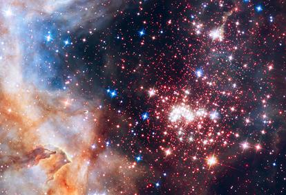 região central do aglomerado estelar Westerlund 2