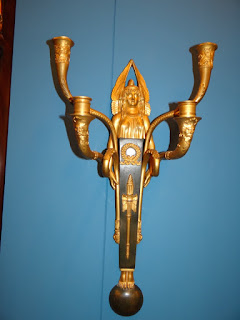 Антикварная пара настенных подсвечников. Ампир. 19-й век Бронза, патина, позолота. 30/40 см. 6000 евро.