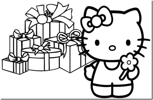 colorear hello kitty navidad (14)