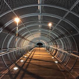by Gabrijel Vrebac - Buildings & Architecture Bridges & Suspended Structures ( lights, fence, urban, urban exploration, urban decay, fences, bridge, bridges )