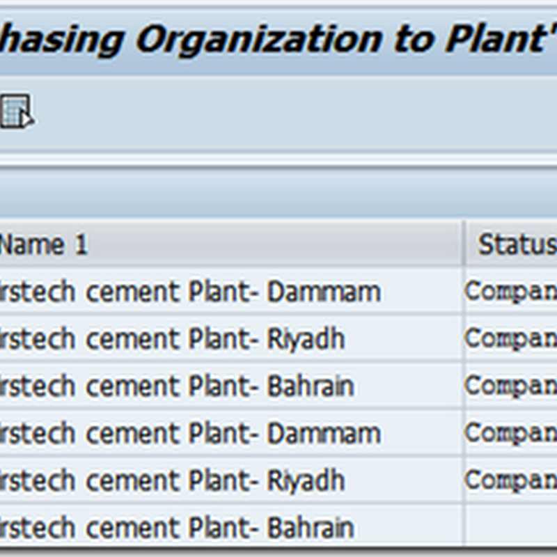 Assign Purchasing Organization to plants