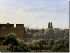 Udsigt fra Charlottenborg over Botanisk Have mod Monten by Vilhelm Kyhn