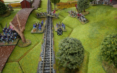 Union artillery now has a vulnerable flank