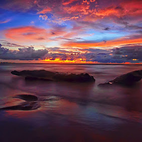One More Night by Hendri Suhandi - Landscapes Cloud Formations ( bali, sunset, beach, landscape )