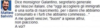 2 Salvini su Galantino
