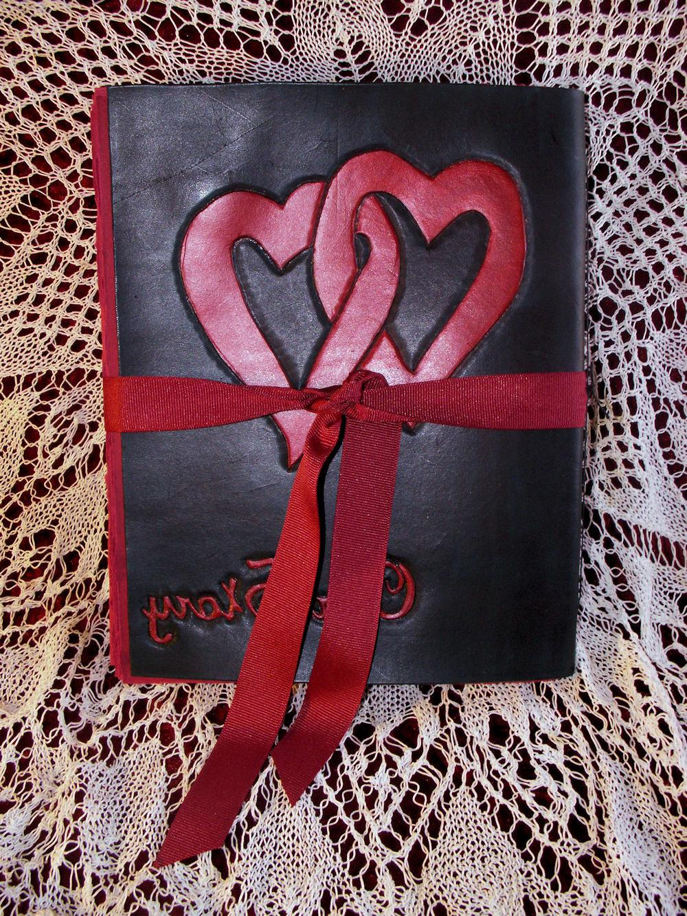 Leather Wedding Guest Book,