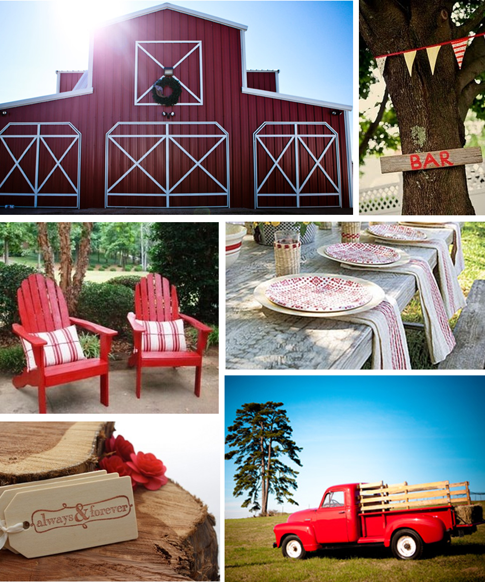 Red & Brown Country Wedding