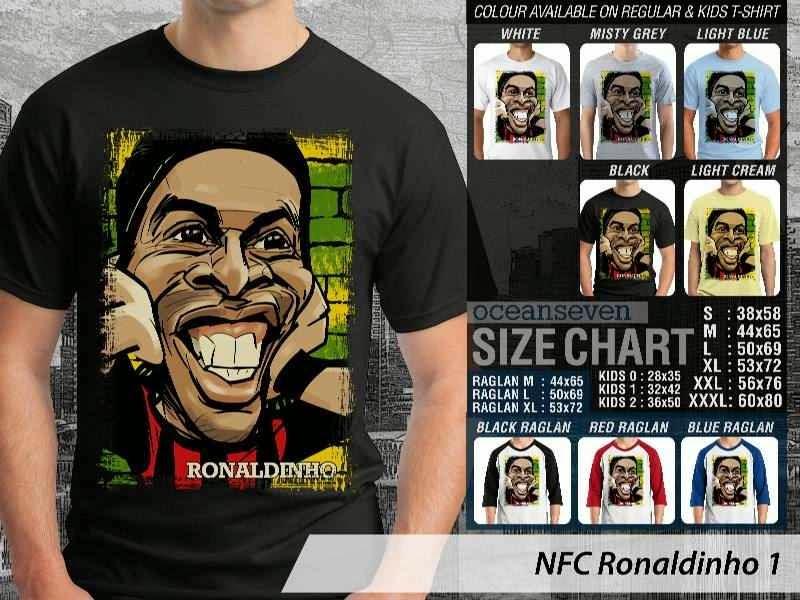KAOS Ronaldinho Kartun Bola distro ocean seven