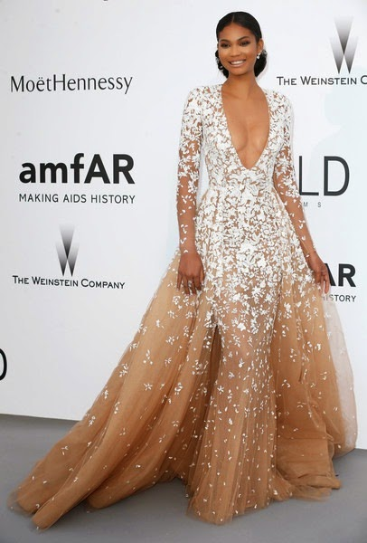 Chanel Iman attends amfAR's 22nd Cinema Against AIDS Gala2