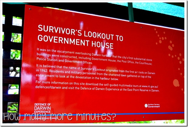 Survivors' Lookout in Darwin | How Many More Minutes?