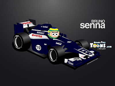 Бруно Сенна Williams FW34 2012 Grand Prix Toons