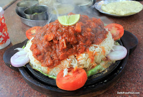 Rice and fish sizzler from Odisha, India