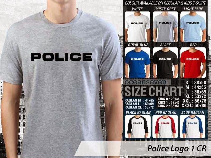 KAOS Militer Police Logo 1 distro ocean seven