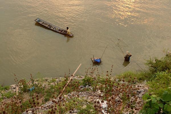 меконг лаос река рыбак