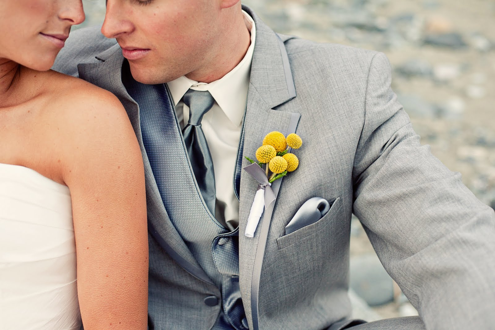 Yellow and Grey Modern Beach, grey and yellow wedding