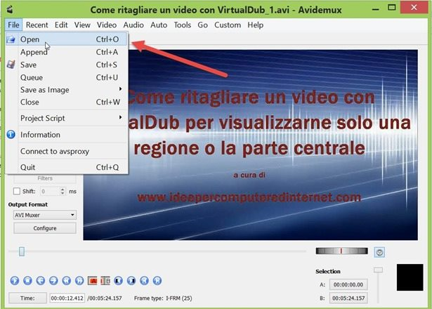 avidemux-interfaccia