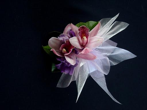 Hot Pink Orchid Wrist Corsage