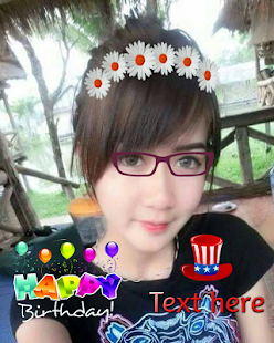 Birthday sticker photo editor - screenshot