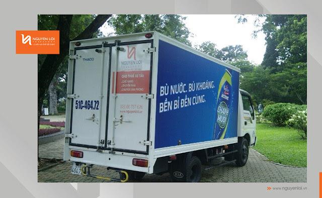 thuê xe tải chạy quảng cáo nước uống Active