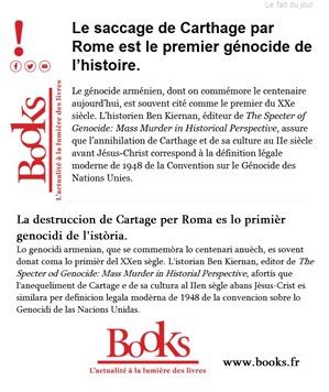 Cartage lo pirmièr genocidi de l'istòria Books