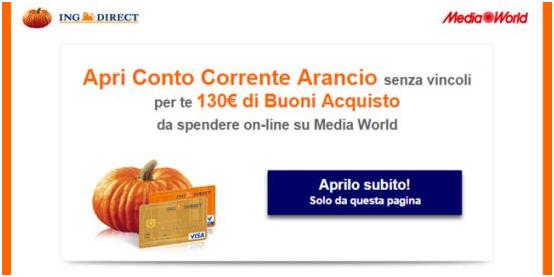 regali conto corrente arancio
