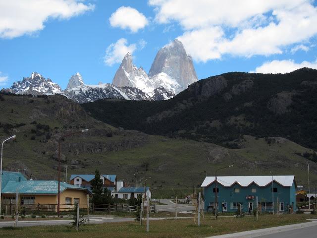 View of Fitzroy from teeny El Chalten