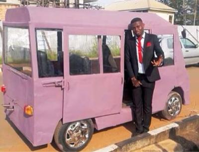 Unizik students construct mini bus.
