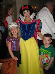 Hannah, Bryan and Snow White in the Akershus restaurant for lunch in Norway in Epcot 06072011a